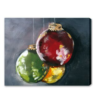 Ornaments Painting Print on Wrapped Canvas