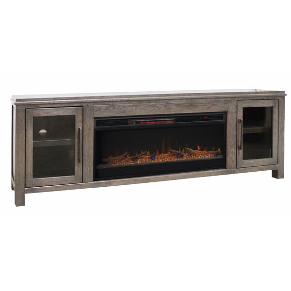 Cloyne 86 TV Stand Electric Fireplace by Gracie Oaks
