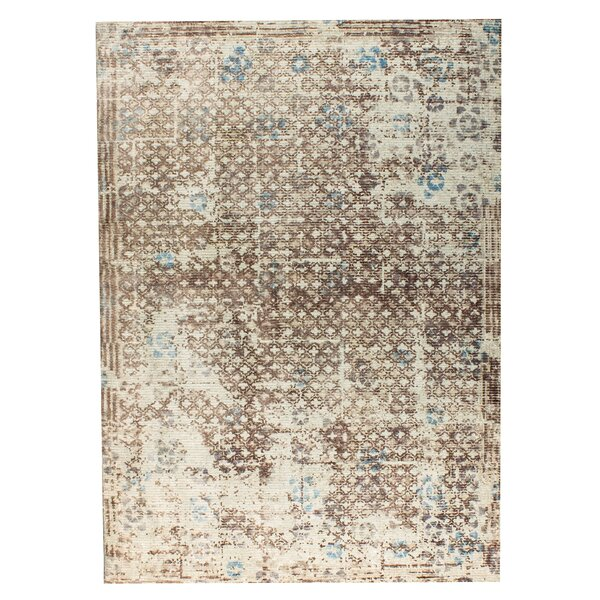 Gela Hand-Woven Beige/Gray Area Rug by M.A. Trading