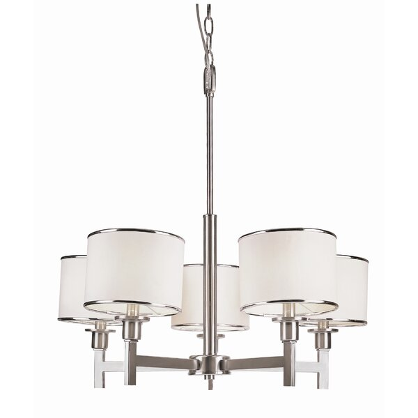 Kincannon 5-Light Shaded Classic / Traditional Chandelier By Latitude Run