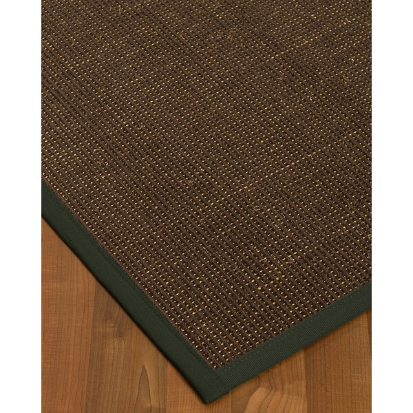 Kersh Border Hand-Woven Brown/Green Area Rug by Bayou Breeze