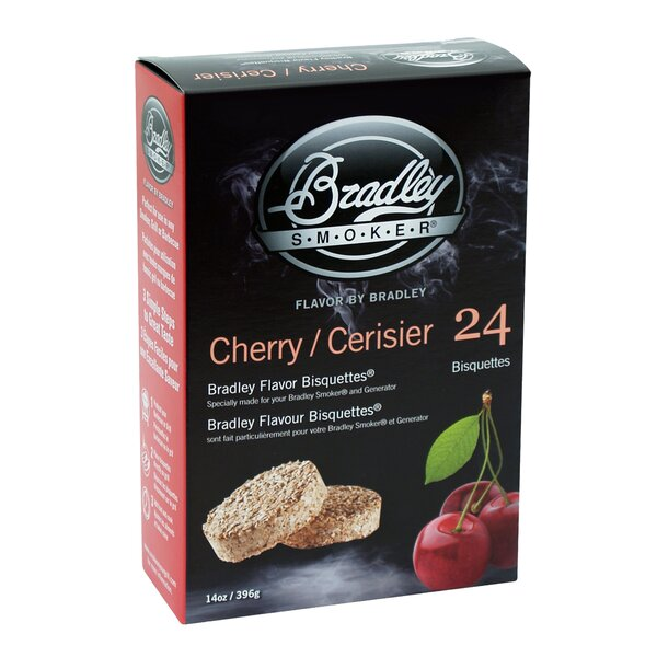 Cherry Flavor Bisquettes (Set of 24) by Bradley Smoker