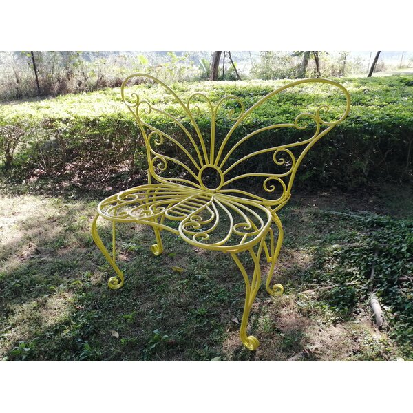 WHITE METAL GARDEN BUTTERFLY CHAIR by Hi-Line Gift Ltd.