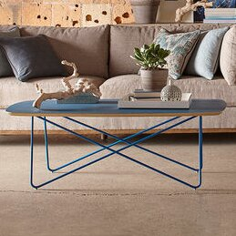 Yasmine Blue Coffee Table by Brayden Studio Brayden Studio