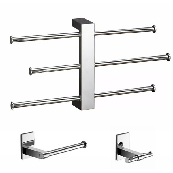Bridge 3 Piece Bathroom Hardware Set by Gedy by Nameeks