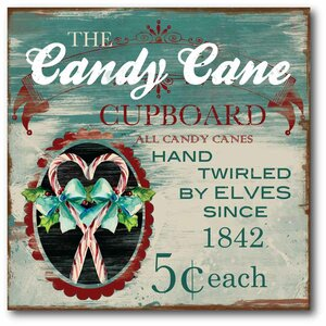The Candy Cane Graphic Art on Wrapped Canvas by Courtside Market