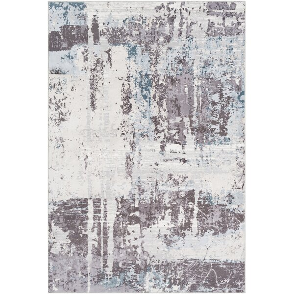 Heger Abstract White/gray Area Rug By Williston Forge.