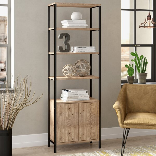 Jo Mid Century Wood Etagere Bookcase by Greyleigh