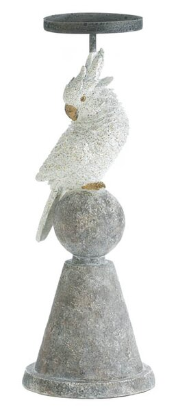 Polyresin and Metal Cockatoo Candlestick by Zingz & Thingz