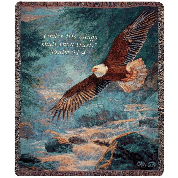 American Majesty Verse Tapestry Cotton Throw by Manual Woodworkers & Weavers