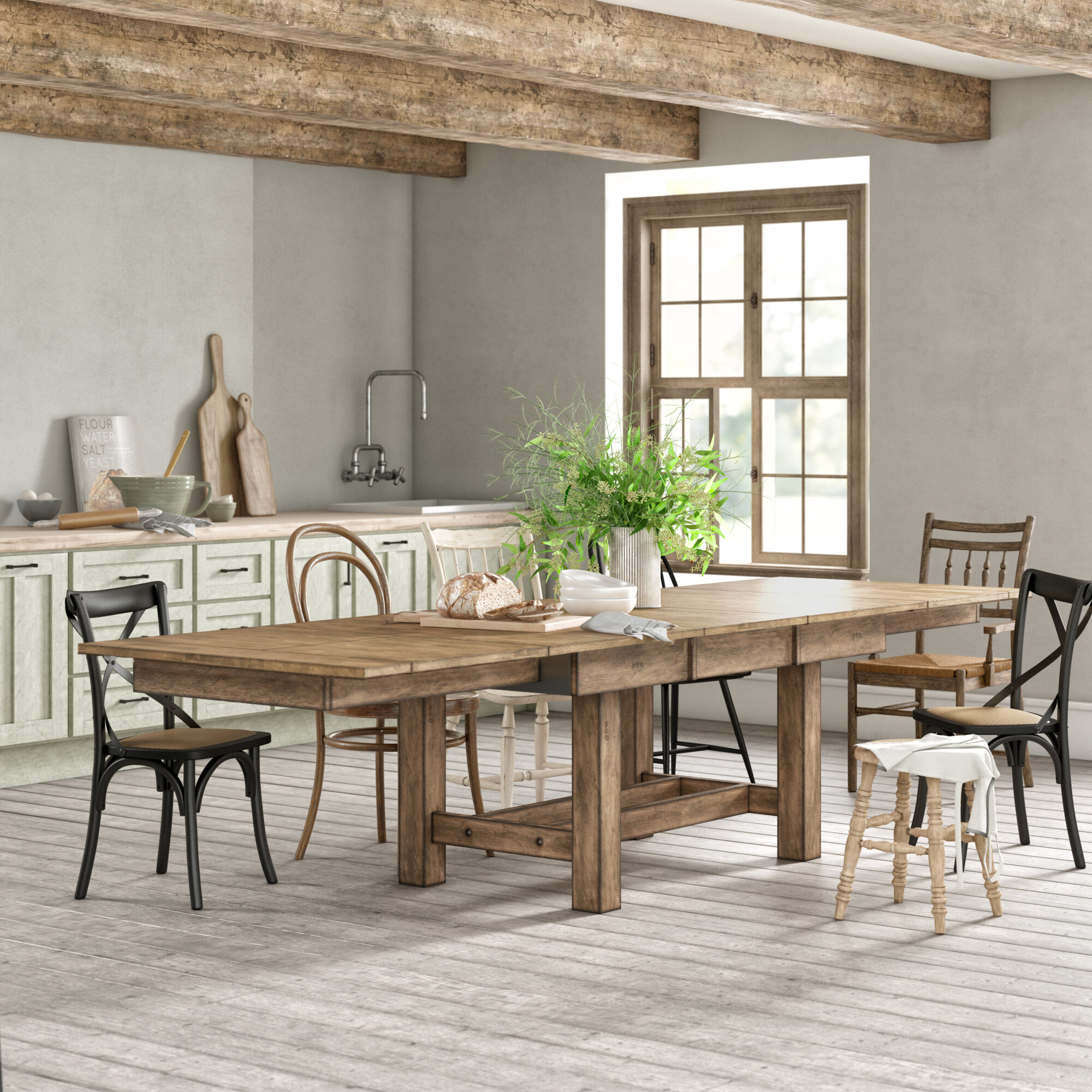 Stuart Extendable Solid Wood Dining