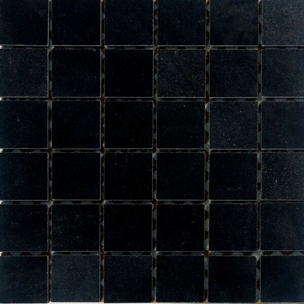2 x 2 Granite Mosaic Tile in Absolute Black by Epoch Architectural Surfaces