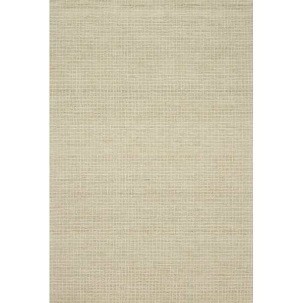 Bourque Hand-Hooked Wool Antique Ivory Area Rug by Highland Dunes