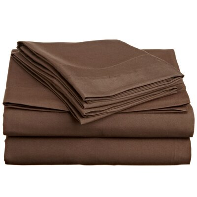 4 Piece Twin Sheet Set Off To Bed Size: Twin XL, Color: Taupe