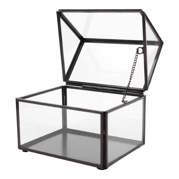 Quon Glass House Storage Decorative Box by Hallmark Home & Gifts