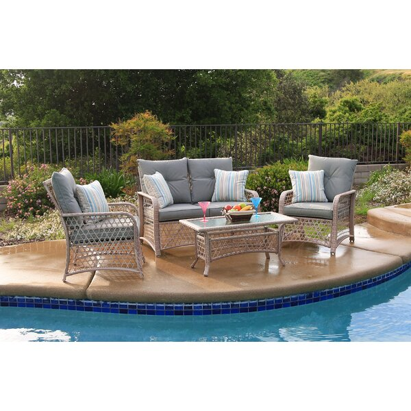 Attwater 4 Piece Sofa Seating Group With Cushions By Darby Home Co