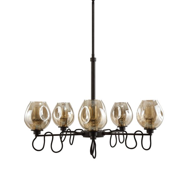 Carroll 5 - Light Shaded Classic / Traditional Chandelier By Williston Forge