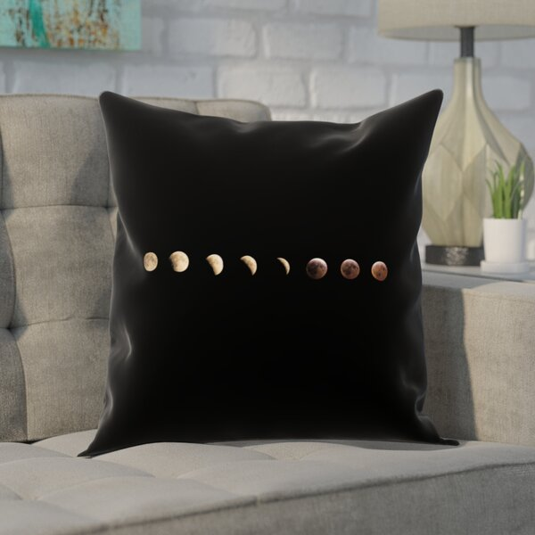 Shepparton Moon Phases Outdoor Throw Pillow by Brayden Studio