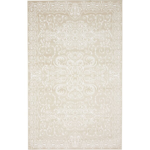 Mathieu Beige Area Rug by Lark Manor