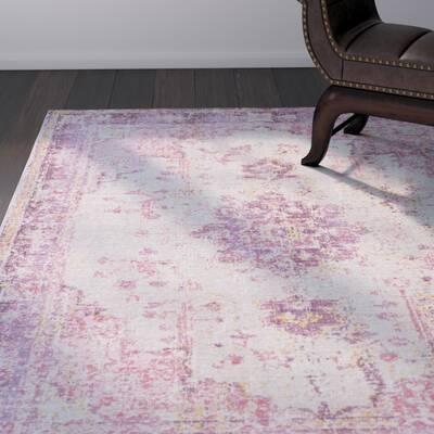 pink gray rug modern kahina pinkgray area rug fields pink reviews joss main