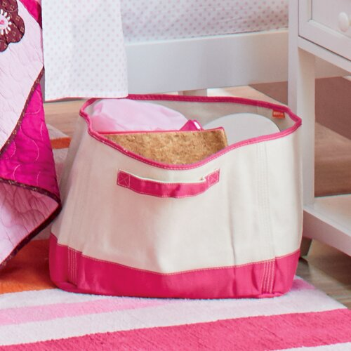 Cleanup Time Monogrammed Canvas Bin by Birch Lane Kids™