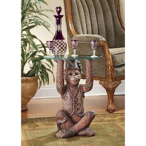 Moroccan Monkey Business Sculptural End Tabl..