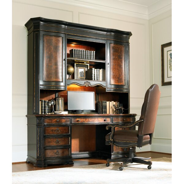 Grandover Executive Desk with Hutch by Hooker Furniture