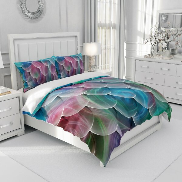 Anke Pastel Mermaid Swirl Scales Duvet Cover Set