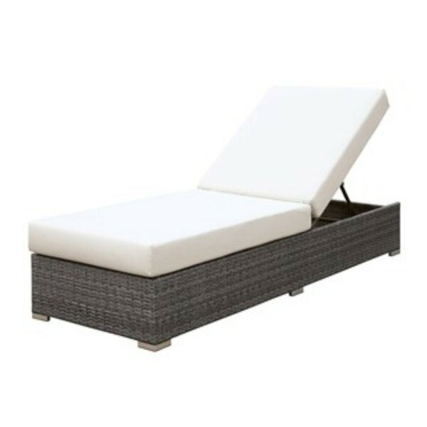 Shearin UV and Water Resistant Adjustable Reclining Chaise Lounge with Cushion