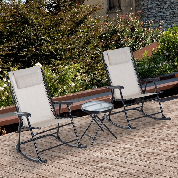 Shultz Outdoor 3 Piece Conversation Set by Freeport Park