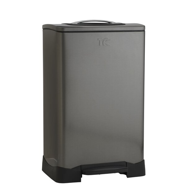 Trash Krusher 13.2 Gallon Trash Can Compactor by Household Essentials