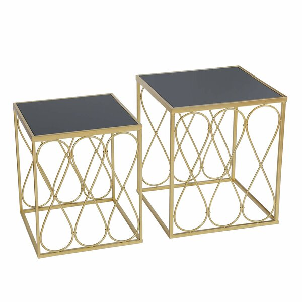 Magdalen Decorative Round 2 Piece Nesting Tables by Mercer41