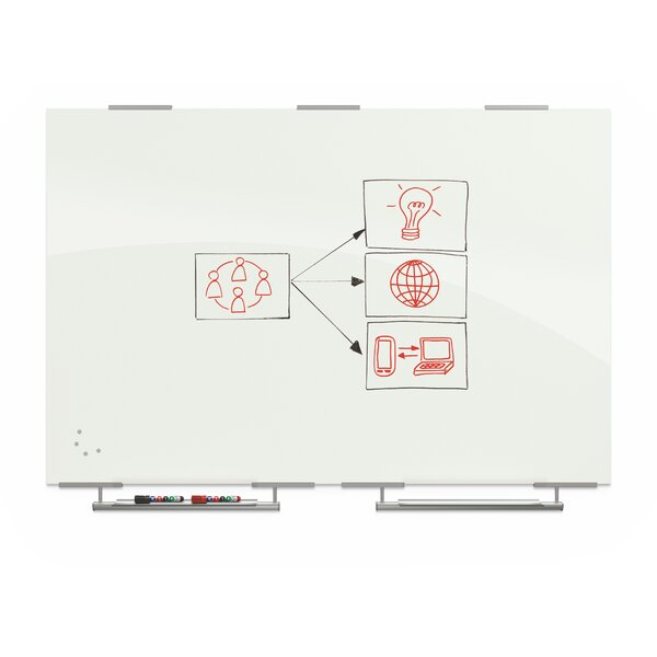 Visionary Wall Mounted Magnetic Whiteboard by Best-Rite®