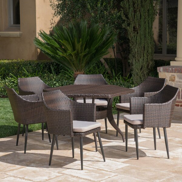 Seabrooks Outdoor 7 Piece Dining Set with Cushions by Ivy Bronx