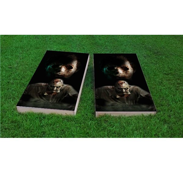 Walking Dead Zombies Light Weight Cornhole Game Set by Custom Cornhole Boards