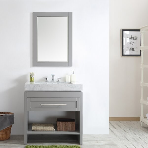 Malt 36 Single Vanity Set with Mirror by Highland Dunes