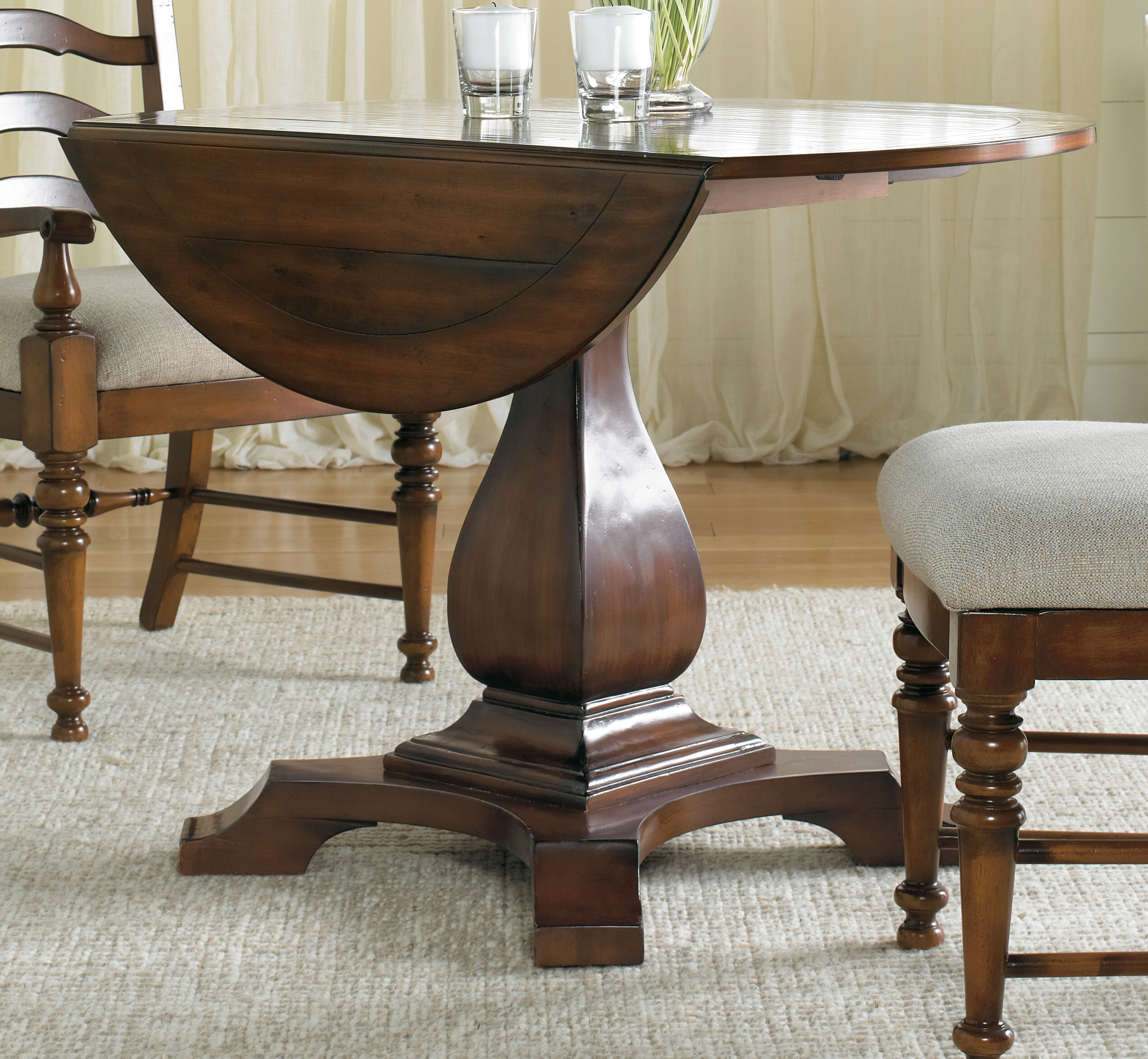 Image of: Hooker Furniture Waverly Place Round Drop Leaf Dining Table Reviews Wayfair