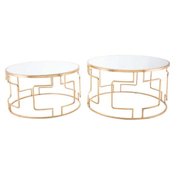 Yaning 2 Piece Nesting Tables by Everly Quinn Everly Quinn