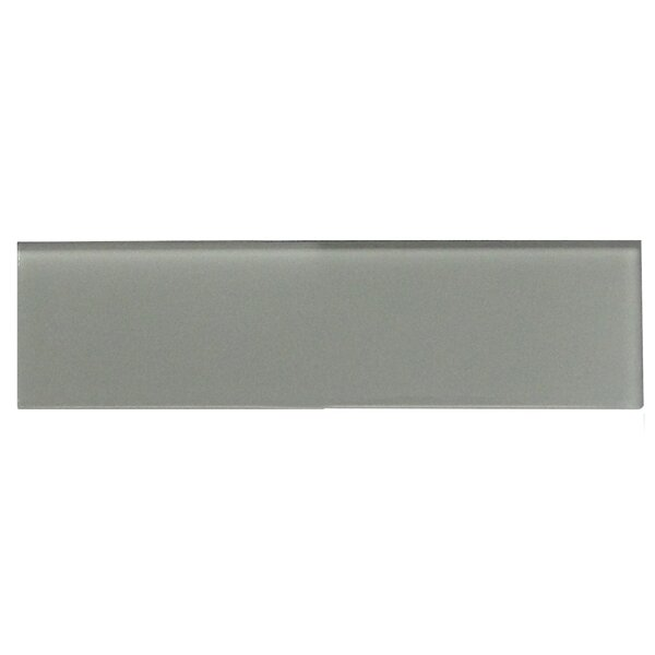 Quality Value Series Individual 3 x 12 Glass Subway Tile in Glossy Dark Gray by WS Tiles