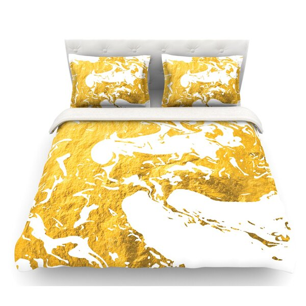 Ink on Water  Metal Featherweight Duvet Cover by East Urban Home