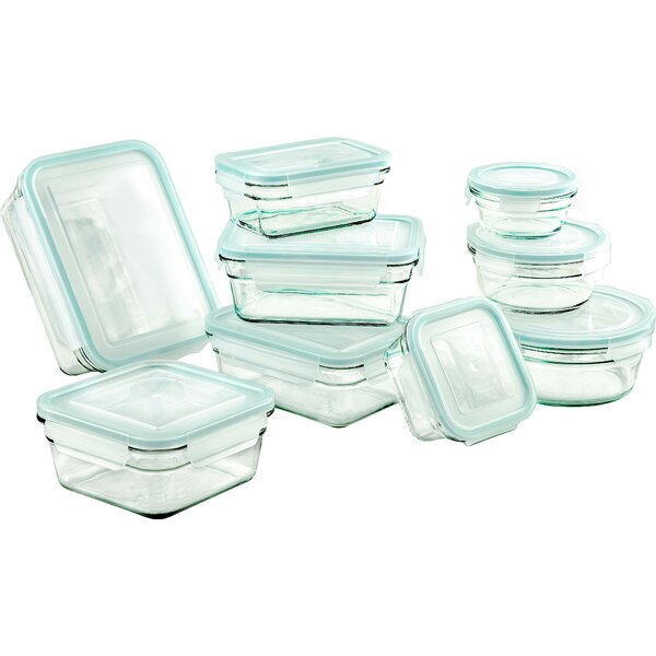 Glasslock 9 Container Food Storage Set by Glasslock