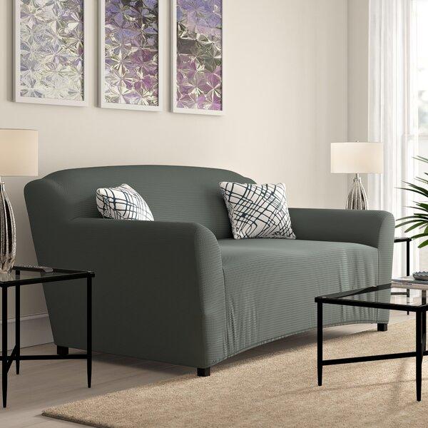 T-cushion Sofa Slipcover by Ebern Designs
