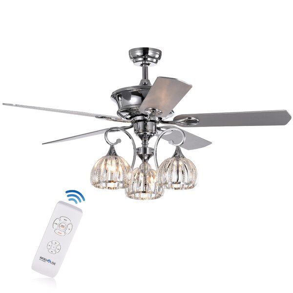 52 Daugherty 5 Blade Ceiling Fan by House of Hampton