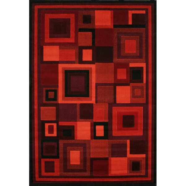 Cerna Red Area Rug by Winston Porter
