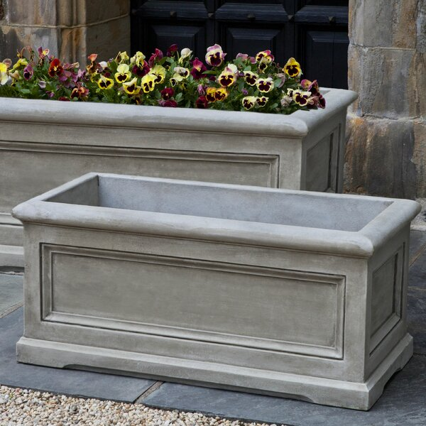 Matha Medium Cast Stone Planter Box by Darby Home Co