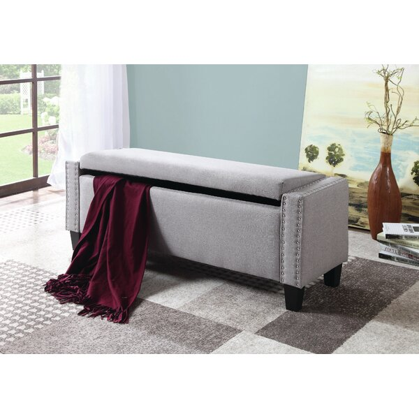 Dove Upholstered Storage Bench By Rosdorf Park 2019 Sale