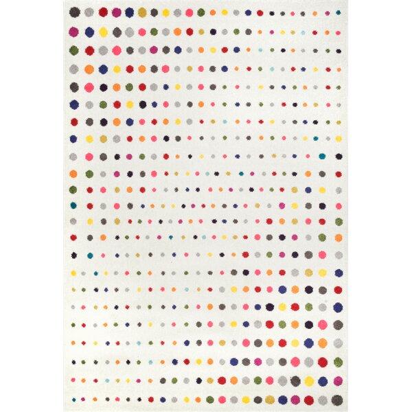 Adair White/Pink Area Rug by Harriet Bee