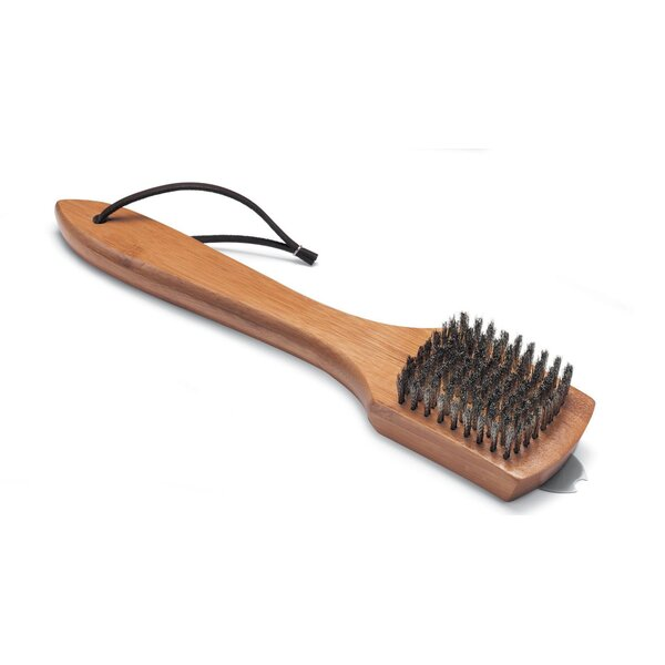12 Grill Brush with Bamboo Handle by Weber