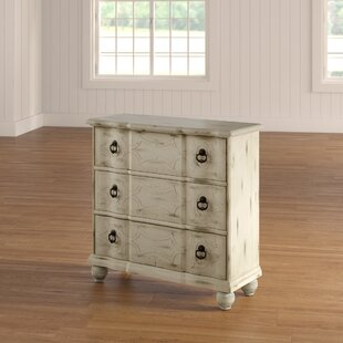 Review Hobert Scroll 3 Drawer Accent Chest by One Allium Way