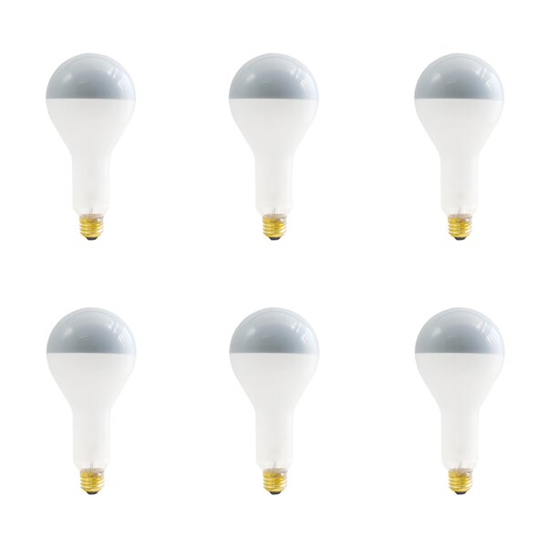200W E26 Dimmable Incandescent Light Bulb Frosted (Set of 6) by Bulbrite Industries